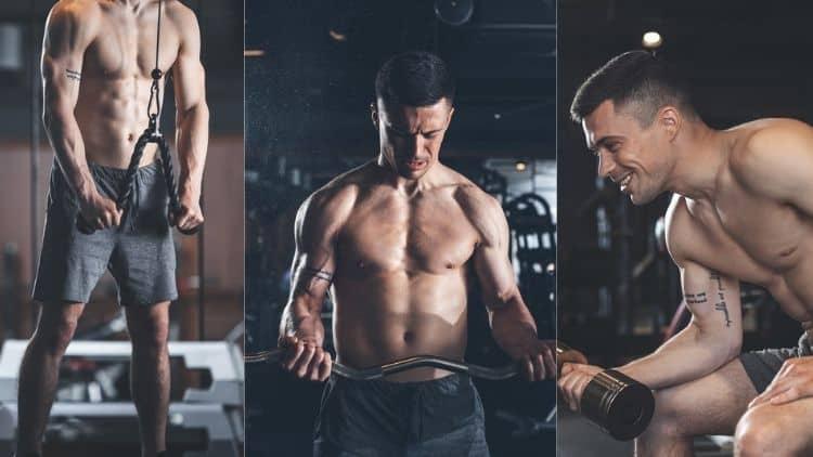 Man performing an arm workout