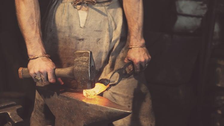 Blacksmith with a hammer