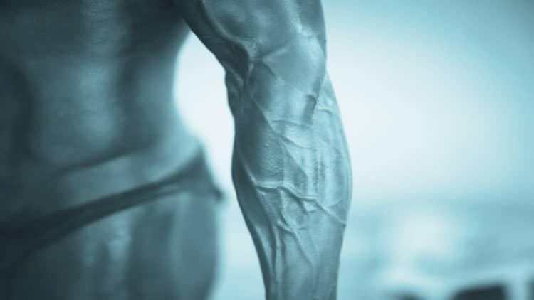 A bodybuilder's forearm