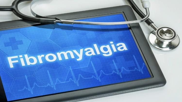 The word fibromyalgia written on a screen