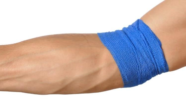 A forearm compression sleeve