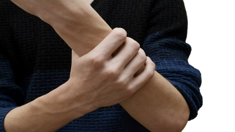 Man with a painful forearm