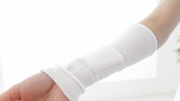 A white forearm sleeve