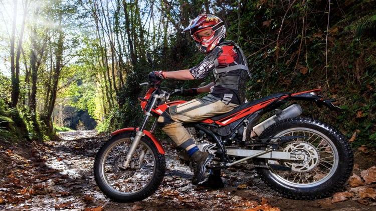 Motocross rider on his bike