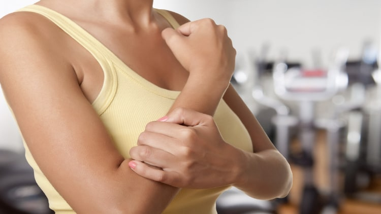 Woman with forearm pain