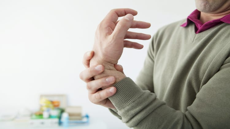 Man with a painful wrist