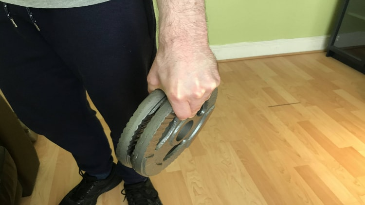 The plate pinch grip