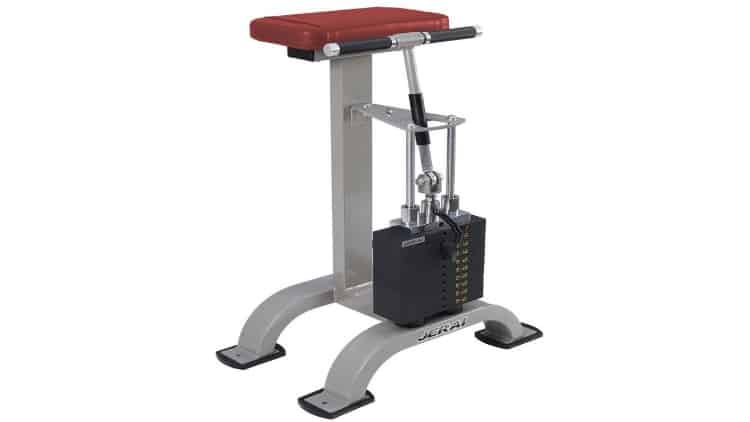 A wrist curl machine for working the forearm muscles