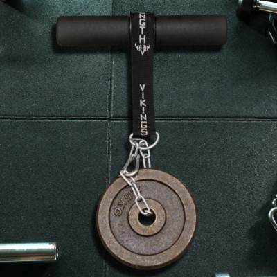 The Vikingstrength wrist roller with a weight plate attached