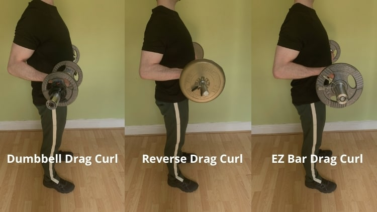 A man showing various body drag curl variations