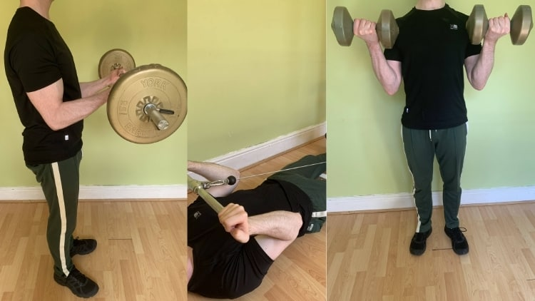 A man demonstrating some cable curl alternatives