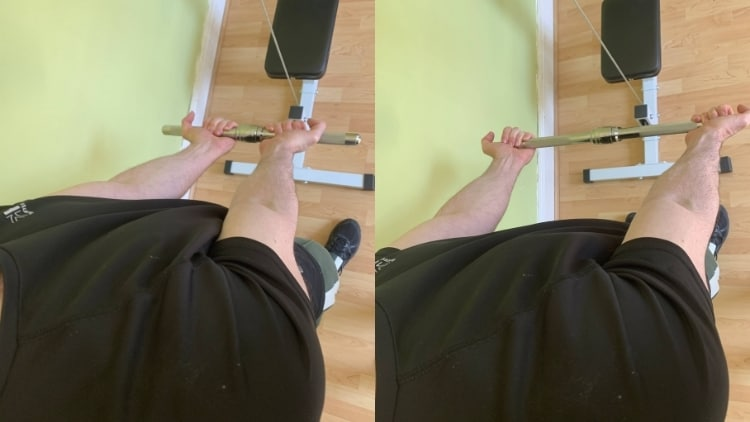 Man demonstrating a common cable curls mistake
