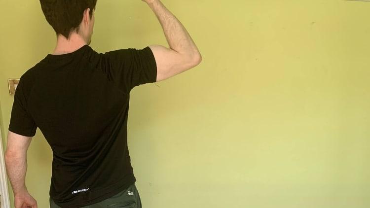 Man flexing his biceps