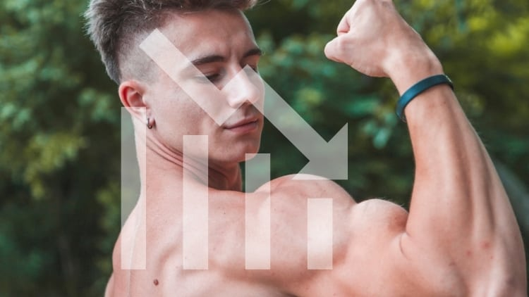 A man flexing his biceps
