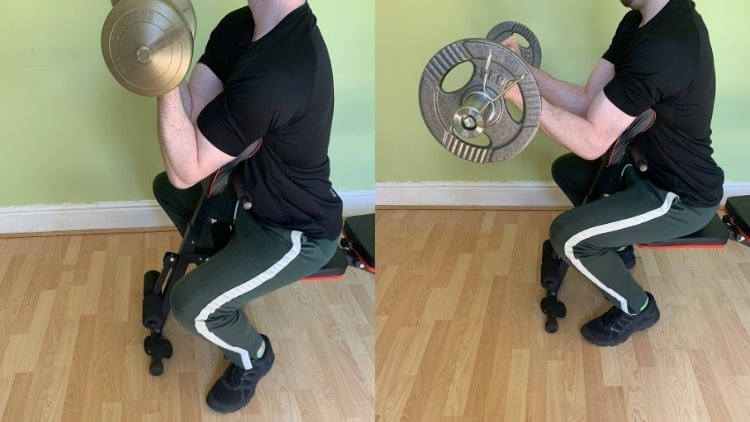 A man demonstrating some sissy curl alternatives