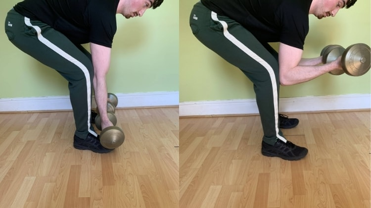 A man demonstrating a good spider curls alternative for working the biceps