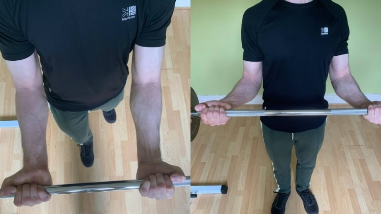 A comparison of wide grip and narrow grip curls