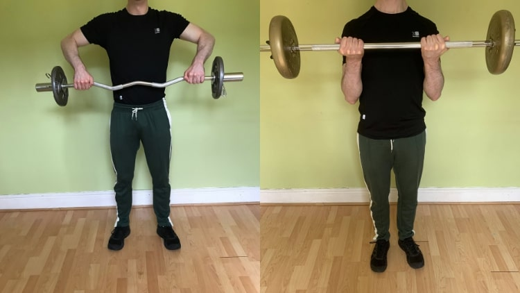 A man demonstrating one of the best shoulder and bicep workout routines that you can do to build muscle