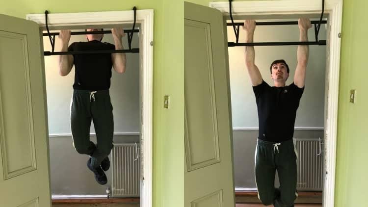 A man doing bodyweight chin-ups
