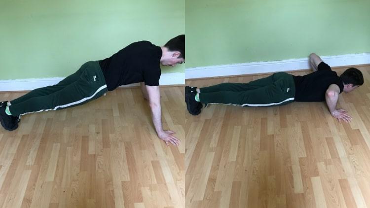 A man doing bodyweight push ups