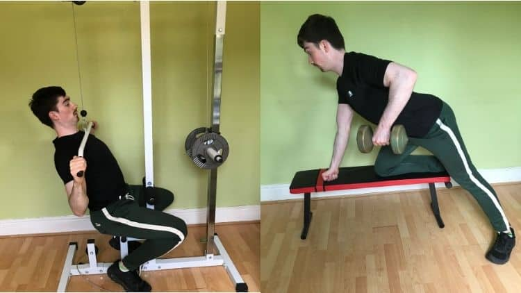 A man performing some compound lifts with weights