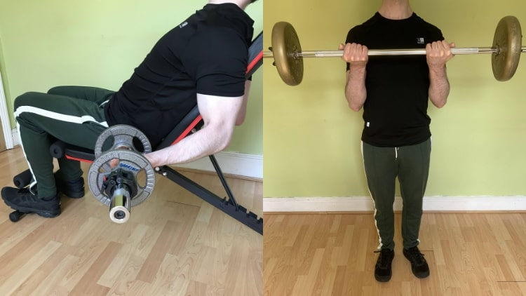 A man demonstrating some long head bicep exercises