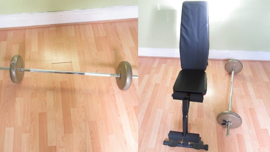 The setup for seated barbell extensions