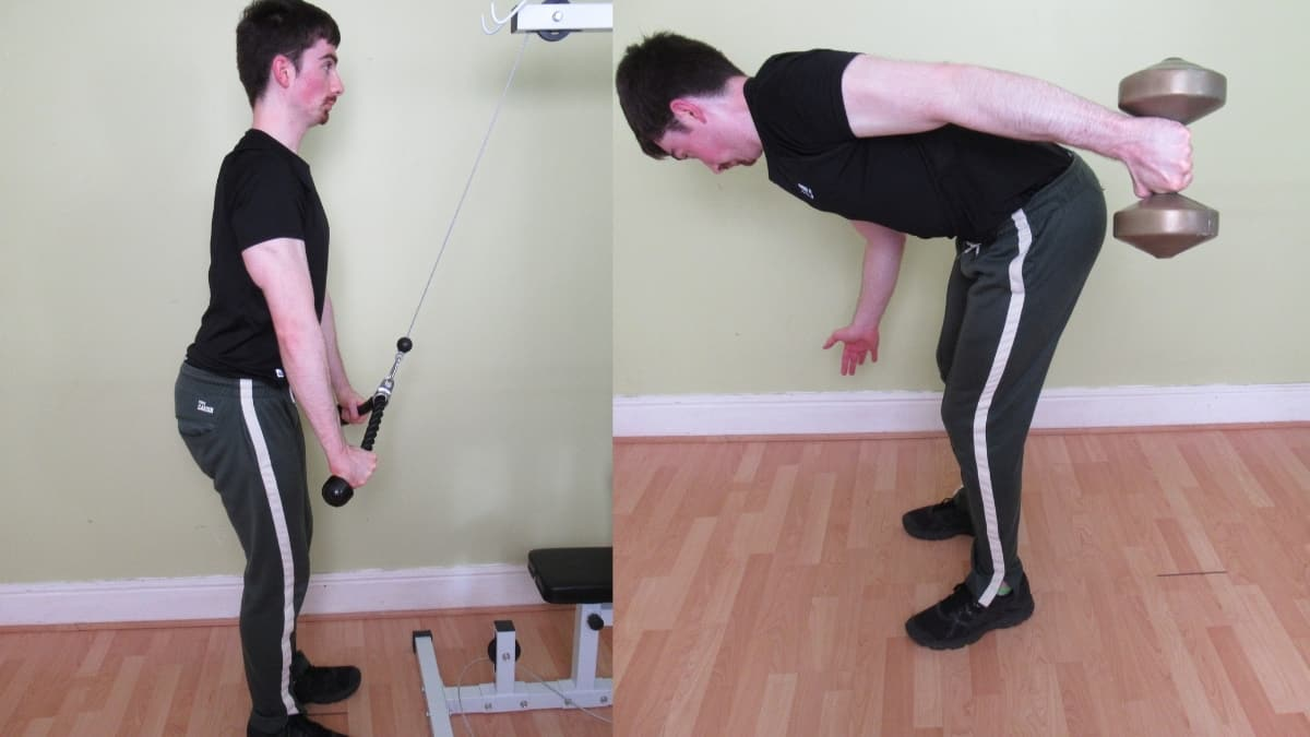 A man demonstrating some tricep extension alternatives